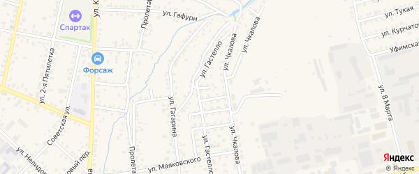 Улица Гастелло на карте Бирска с номерами домов
