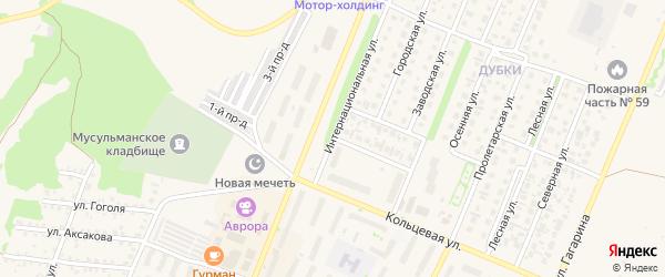 Интернациональная улица на карте Бирска с номерами домов