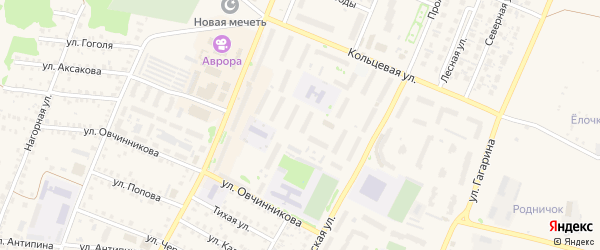 180-й микрорайон на карте Бирска с номерами домов