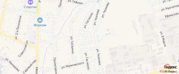 Строительный переулок на карте Бирска с номерами домов