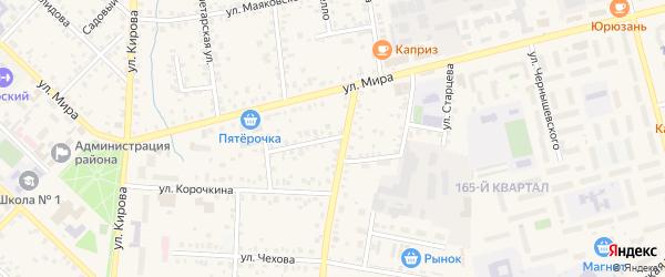 Улица Матросова на карте Бирска с номерами домов
