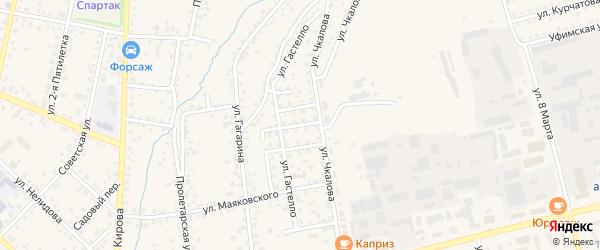Рабочий переулок на карте Бирска с номерами домов