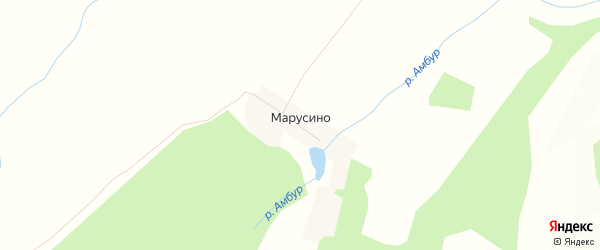 Карта деревни Марусино в Башкортостане с улицами и номерами домов