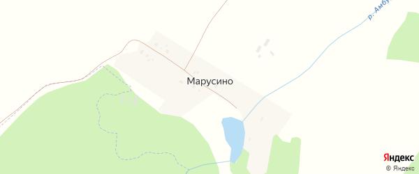 Центральная улица на карте деревни Марусино с номерами домов