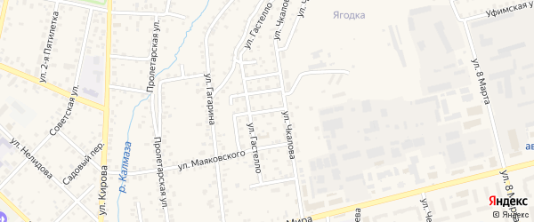 Переулок Чкалова на карте Бирска с номерами домов