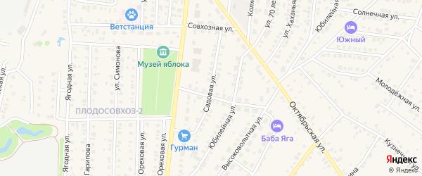 Садовая улица на карте села Пономаревки с номерами домов