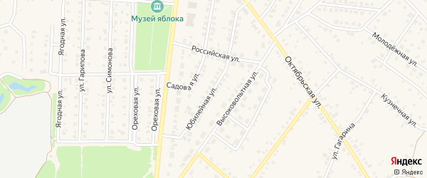 Юбилейная улица на карте села Пономаревки с номерами домов