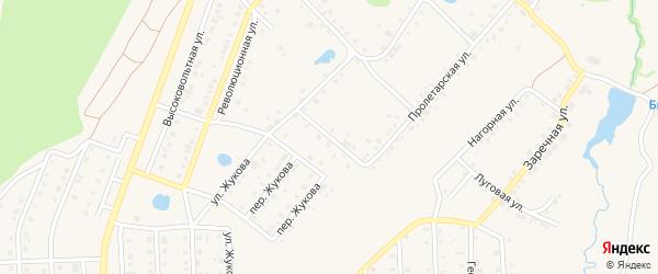 Улица Кленовый Мыс на карте села Пономаревки с номерами домов