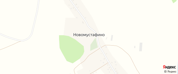 Лесная улица на карте деревни Новомустафино с номерами домов