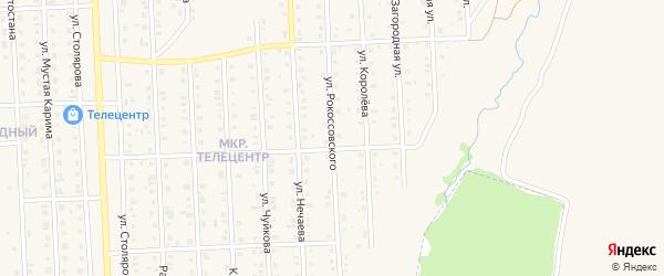 Улица Рокоссовского на карте Бирска с номерами домов
