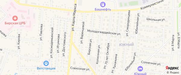 Бирская улица на карте Бирска с номерами домов