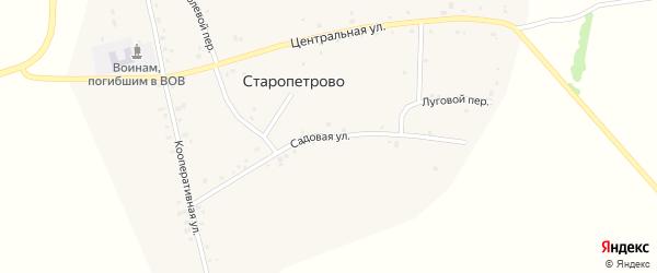 Садовая улица на карте села Старопетрова с номерами домов