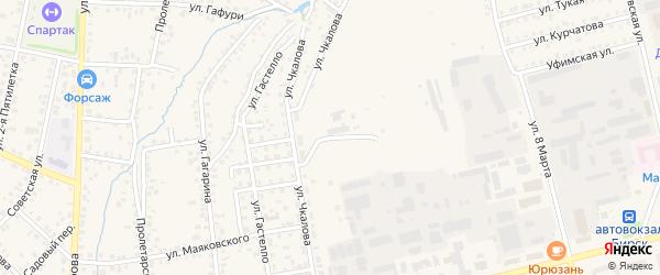 Улица Чкалова на карте Бирска с номерами домов