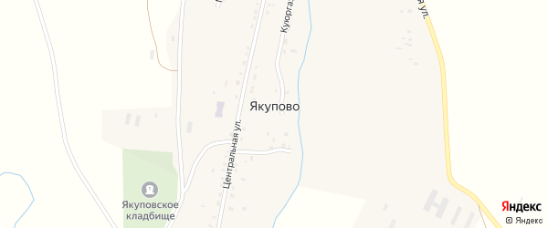 Молодежная улица на карте села Якупово с номерами домов