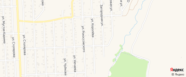 Улица Королева на карте Бирска с номерами домов