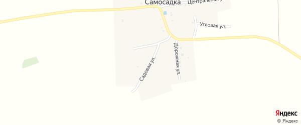 Садовая улица на карте деревни Самосадки с номерами домов