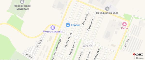 Городская улица на карте Бирска с номерами домов
