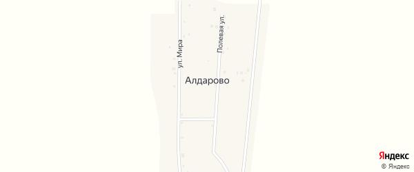 Полевая улица на карте деревни Алдарово с номерами домов