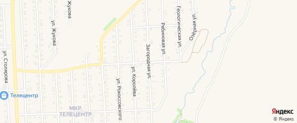 Загородная улица на карте Бирска с номерами домов