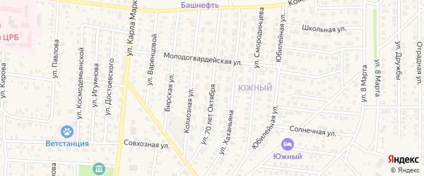 Улица 70 лет Октября на карте Бирска с номерами домов