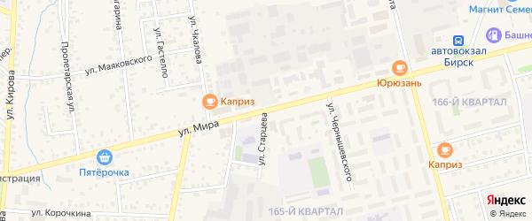 Улица Мира на карте Бирска с номерами домов
