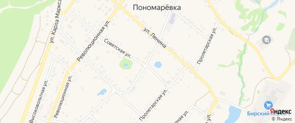 Улица Гагарина на карте села Пономаревки с номерами домов