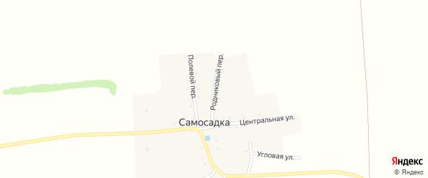 Родниковый переулок на карте деревни Самосадки с номерами домов