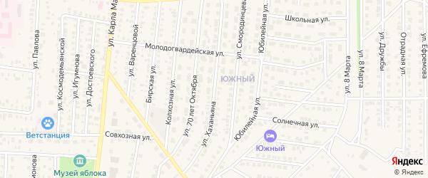 Улица Хаханьяна на карте Бирска с номерами домов