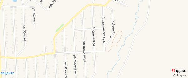 Рябиновая улица на карте Бирска с номерами домов