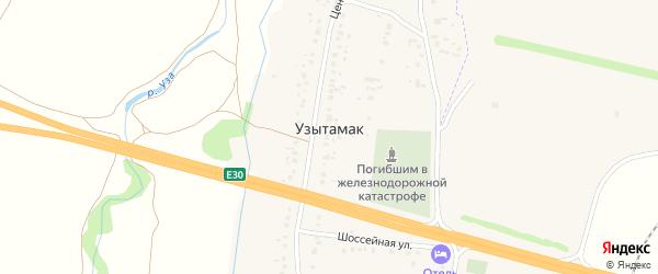 Центральная улица на карте села Узытамака с номерами домов