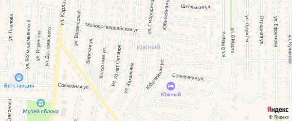 Улица Смородинцева на карте Бирска с номерами домов