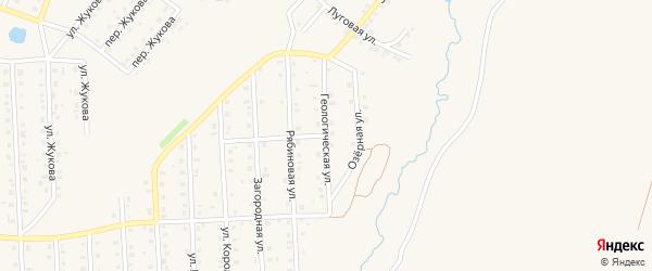 Геологическая улица на карте села Пономаревки с номерами домов