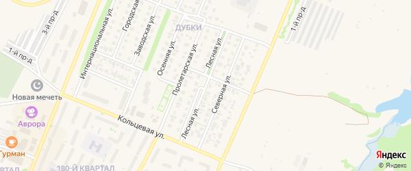 Лесная улица на карте Бирска с номерами домов