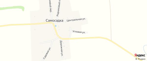 Угловая улица на карте деревни Самосадки с номерами домов