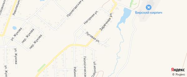 Луговая улица на карте села Пономаревки с номерами домов