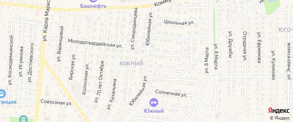 Юбилейная улица на карте Бирска с номерами домов