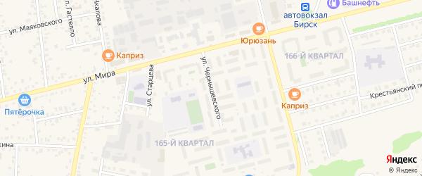 Улица Чернышевского на карте Бирска с номерами домов