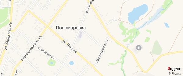 Улица Красный ключ на карте села Пономаревки с номерами домов