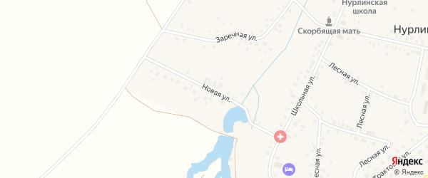 Новая улица на карте села Нурлино с номерами домов