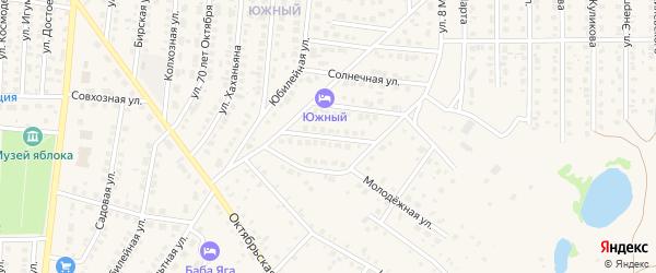 Высоковольтный переулок на карте Бирска с номерами домов