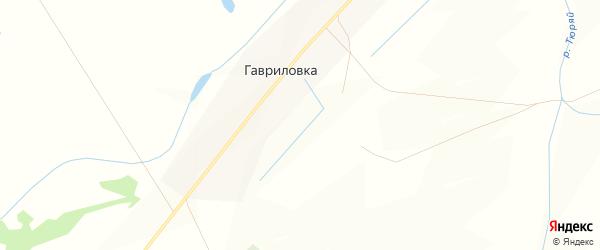 Карта села Гавриловки в Башкортостане с улицами и номерами домов