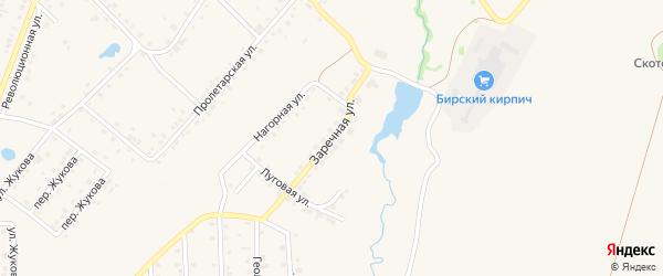 Заречная улица на карте села Пономаревки с номерами домов