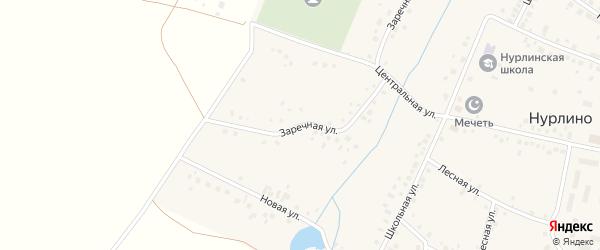 Заречная улица на карте села Нурлино с номерами домов