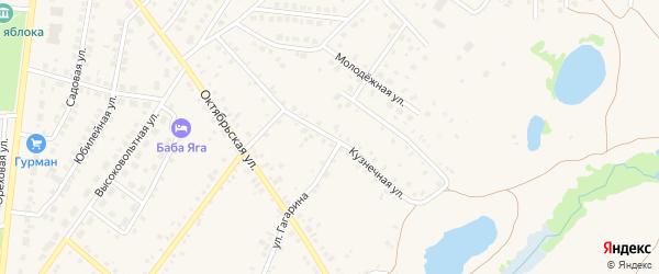 Кузнечная улица на карте села Пономаревки с номерами домов