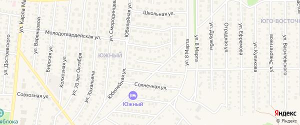 Молодежный переулок на карте Бирска с номерами домов