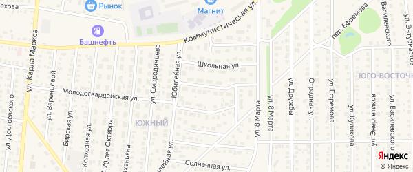 Молодогвардейский переулок на карте Бирска с номерами домов