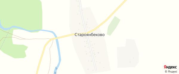 Набережная улица на карте деревни Староянбеково с номерами домов