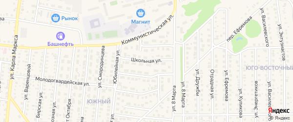 Школьная улица на карте Бирска с номерами домов