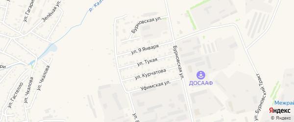 Тукая улица на карте Бирска с номерами домов