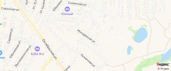 Молодежная улица на карте села Пономаревки с номерами домов